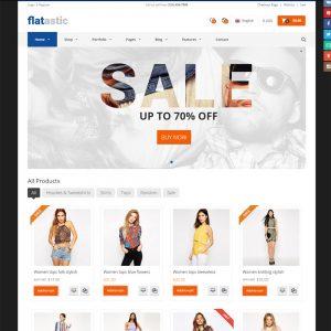 Thiết Kế Website Theo Theme Flatastic đẹp Nhẹ WBT15