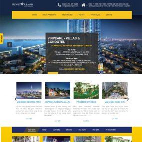 Thiết Kế Website Bất động Sản Các Dự án WBT14