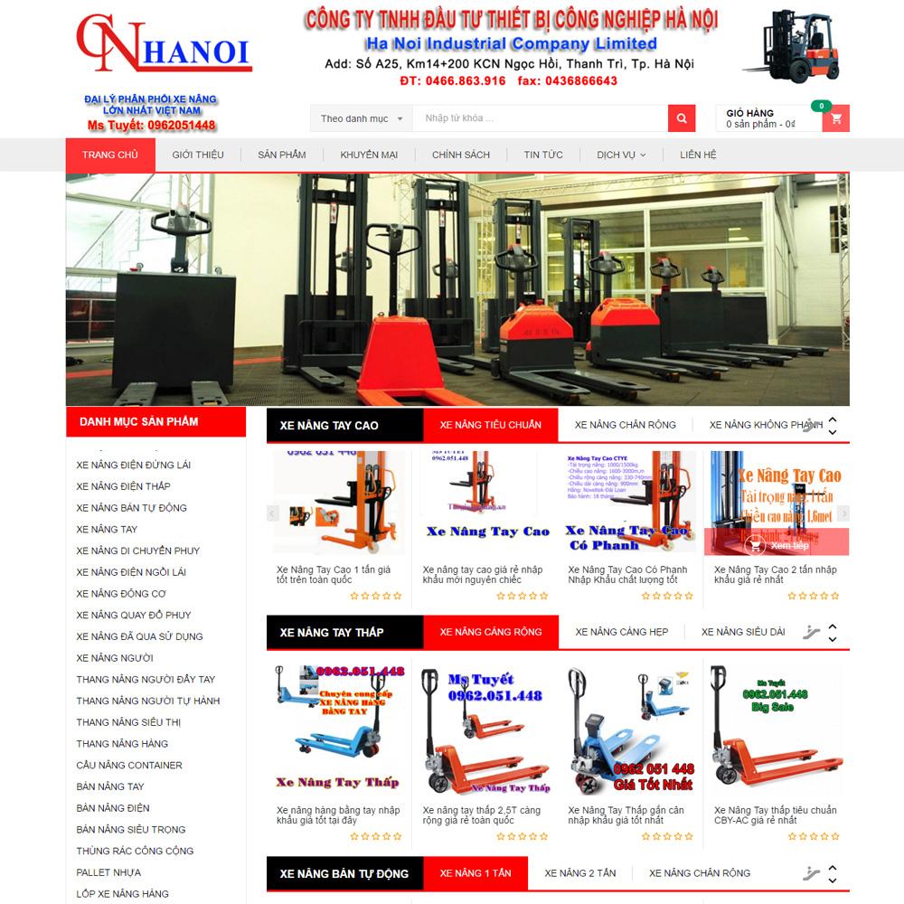 Website Bán Hàng Máy Móc Xe Nâng WBT05
