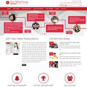 Thiết Kế Website Giáo Dục Trung Tâm Tiếng Trung WBT09
