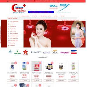 Thiết Kế Website Bán Thuốc Giảm Cân Nhà Thuốc WBT03