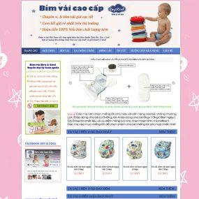 Thiết Kế Website Bán Hàng Bỉm Vải Cao Cấp WBT07