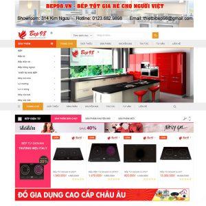 Thiết Kế Website Bán Hàng Bếp đồ Gia Dụng WBT08