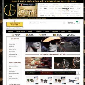 Thiết Kế Website Bán đồng Hồ Kính Mắt WBT06
