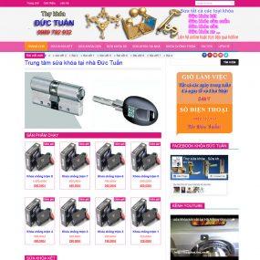 Thiết Kế Website Bán Hàng Dịch Vụ Sửa Khóa WBT11