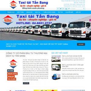 Thiết Kế Website Giới Thiệu Dịch Vụ Taxi Tải WBT13