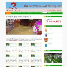 Website Giới Thiệu Sản Phẩm Dịch Vụ Thi Công Sơn Epoxy WBT21