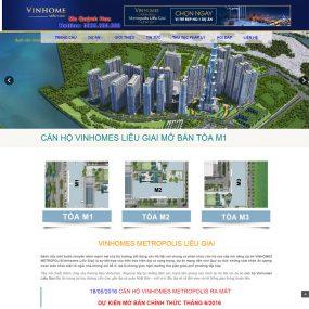 Website Giới Thiệu Bán Dự án Bất động Sản Vinhomes WBT27