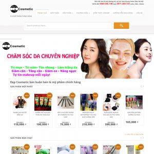 Website Bán Mỹ Phẩm Depcosmetic WBT28