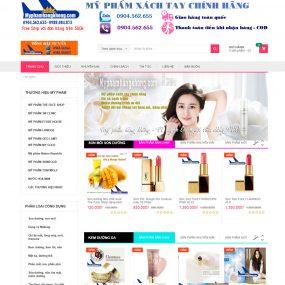 Website Bán Mỹ Phẩm Xách Tay Giá Tốt WBT31