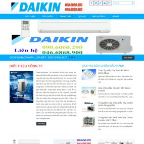 Website Giới Thiệu Dịch Vụ Sửa Chữa điều Hòa Daikin WBT32