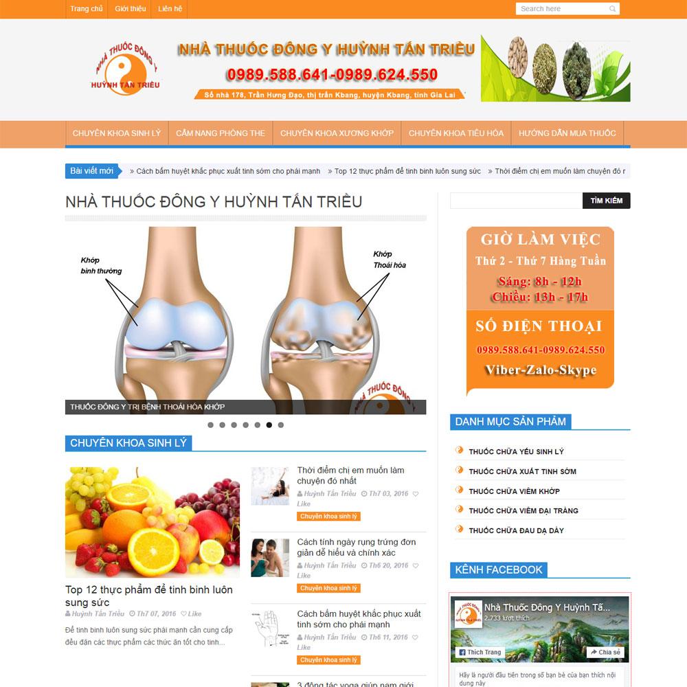 Website Giới Thiệu Nhà Thuốc đông Y WBT33