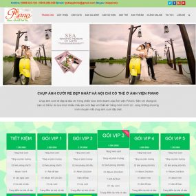 Website ảnh Viện áo Cưới Studio WBT35