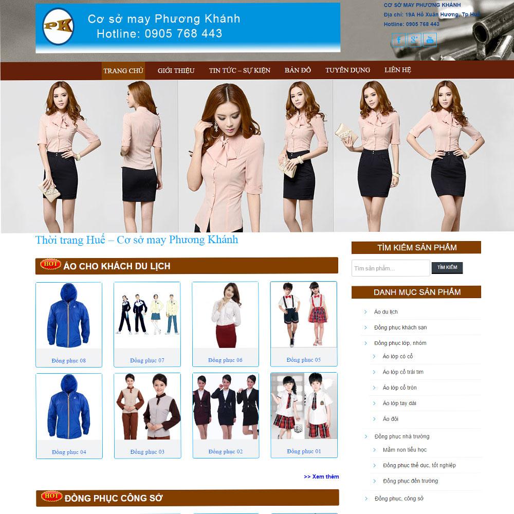 Website Giới Thiệu In May áo đồng Phục WBT37