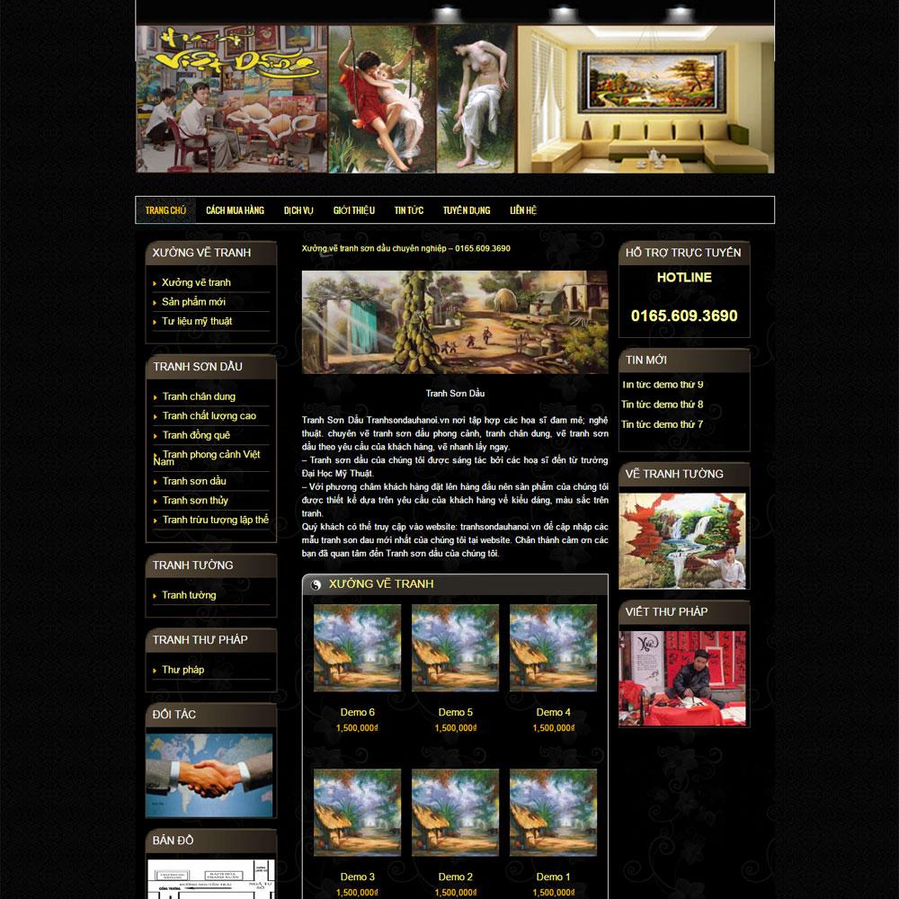 Website Giới Thiệu Sản Phẩm Dịch Vụ Vẽ Tranh WBT38