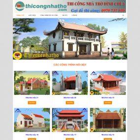 Website Thi Công Thiết Kế Nhà Thờ đình Chùa WBT41