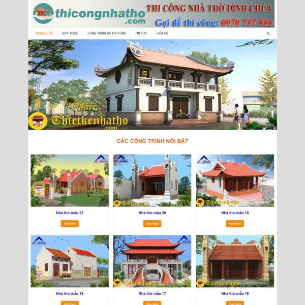 DAW41 Thi Cong Xay Dung Nha Tho Ho