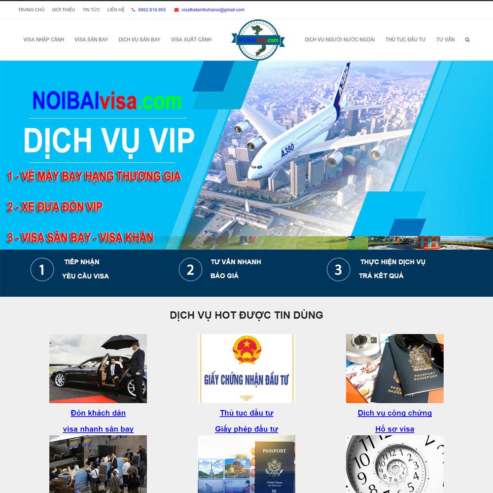 Website Dịch Vụ Làm Visa Trọn Gói Giá Rẻ WBT43