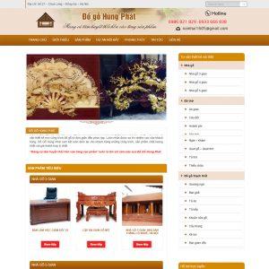 Website Bán Và Thi Công Thiết Kế đồ Gỗ Nội Thất WBT45