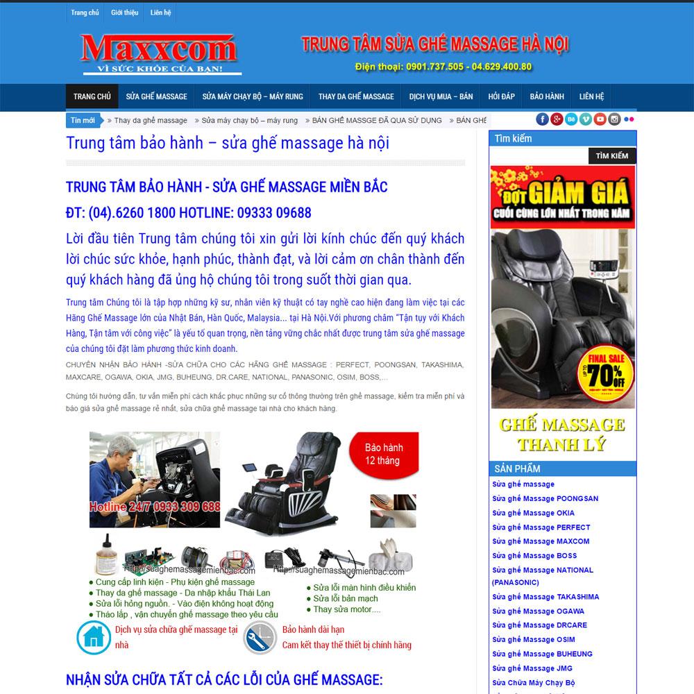 Webiste Dịch Vụ Sửa Chữa Và Bán Ghế Massage Cũ WBT47