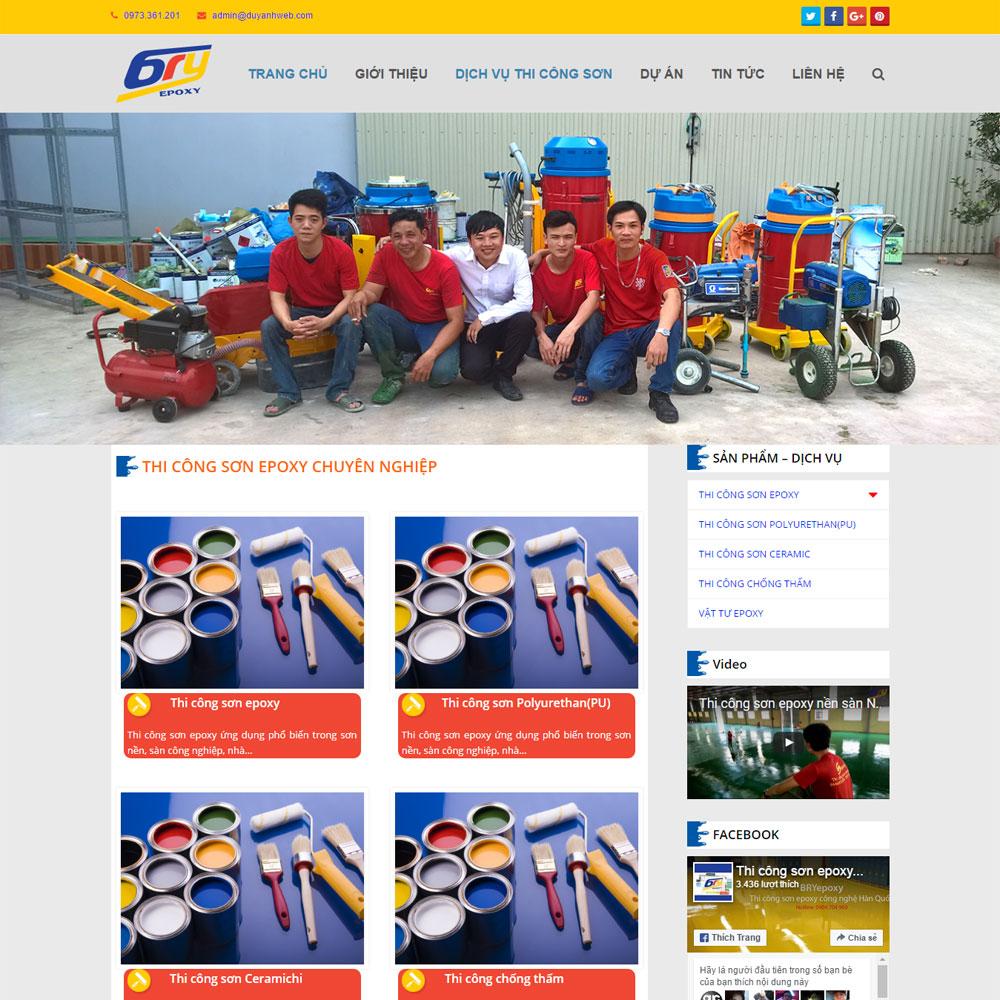 Website Giới Thiệu Dịch Vụ Thi Công Sơn Sửa Nhà WBT17
