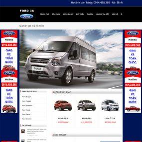 Website Giới Thiệu Và Bán ôtô Ford Chuẩn Seo WBT19