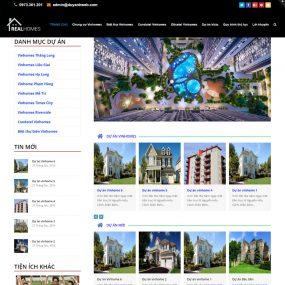 Thiết Kế Website Bất động Sản Nhiều Dự án WBT22