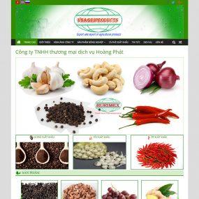 Website Xuất Khẩu Nông Sản Cà Phê Nguyên Chất WBT30