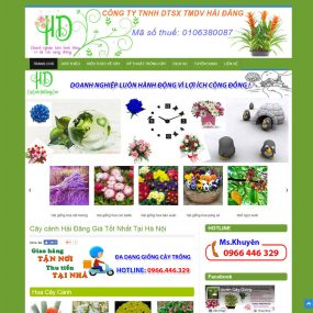 Thiết Kế Website Cây Cảnh Hoa Mẫu WBT16