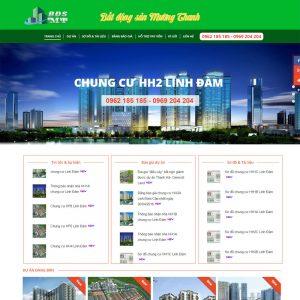 Website Bất động Sản Dự án Mường Thanh WBT67