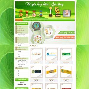 Website Giới Thiệu Sản Phẩm Mẫu Bảng Tên Huy Hiệu WBT53