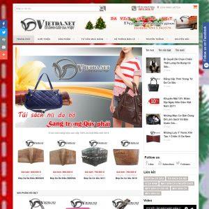 Website Bán Hàng Phụ Kiện Dây Lưng Túi Sách Da WBT54