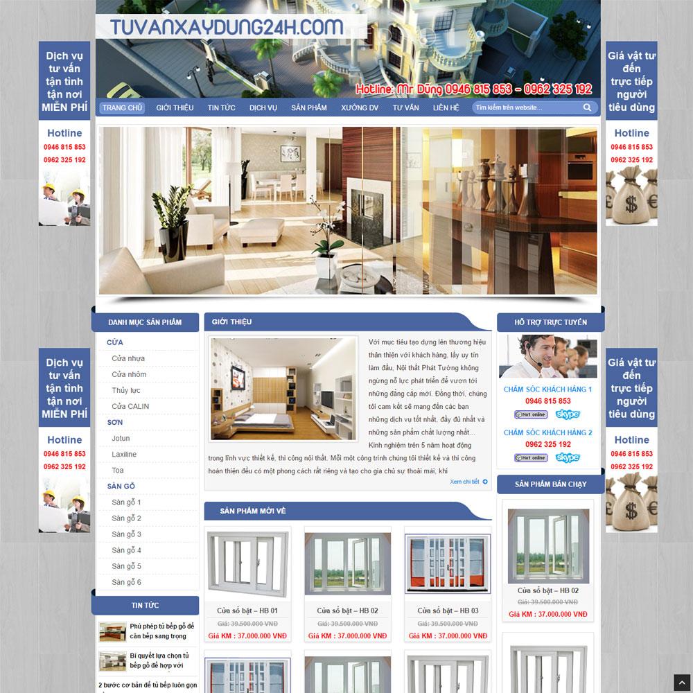 Website Bán Và Tư Vấn Thiết Bị Xây Dựng WBT56