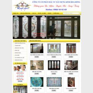 Website Giới Thiệu Kính Hoa đồng Kính Hoa Văn WBT60
