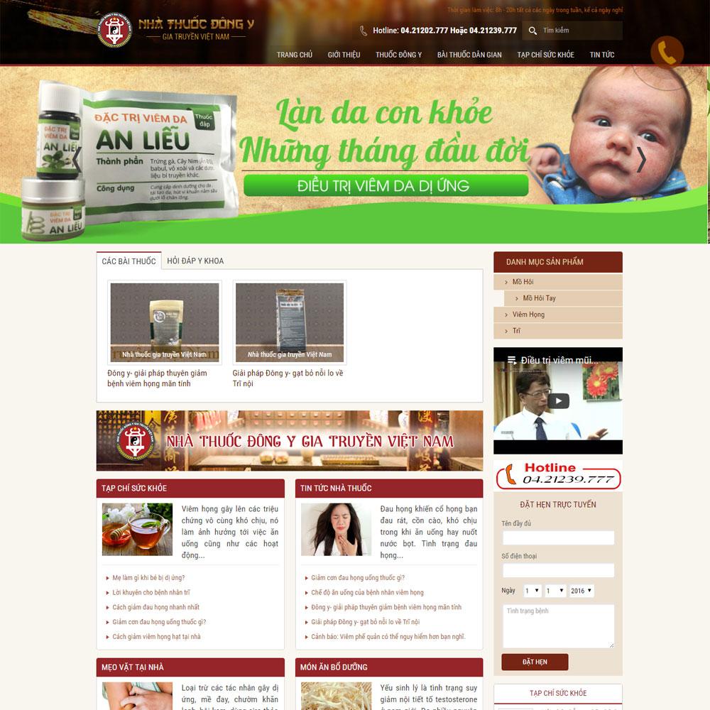 Website Giới Thiệu Về Phóng Khám đông Y WBT63
