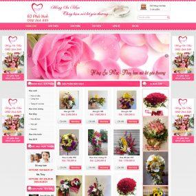 Website Bán Các Loại Hoa Cưới WBT66