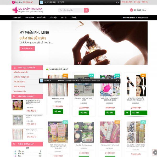 DAW69 Website Mypham Hanquoc Chinh Hang