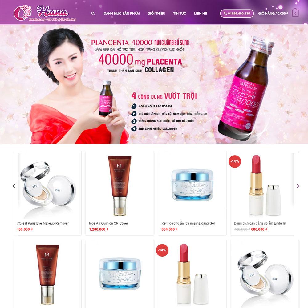 Website Bán Mỹ Phẩm Cao Cấp Chính Hãng WBT71