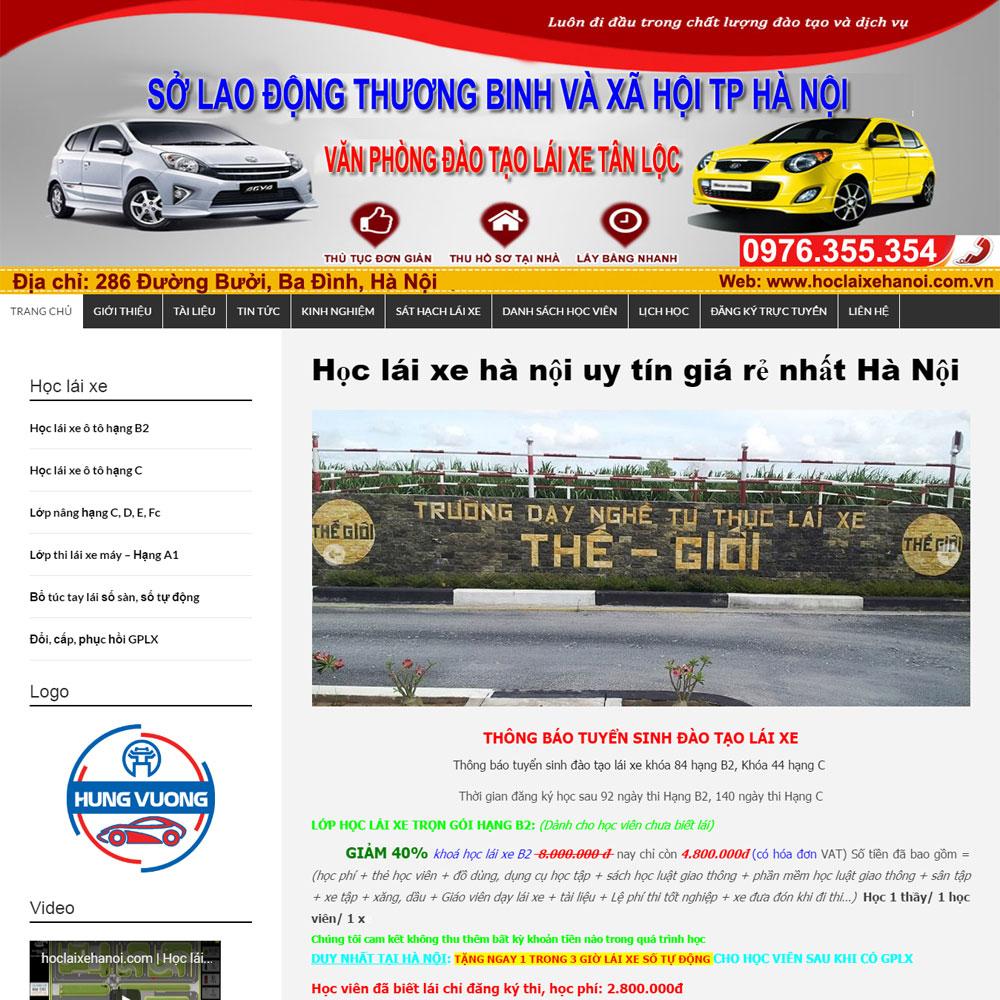 Website Trung Tâm Dạy Lái Xe Hà Nội WBT74