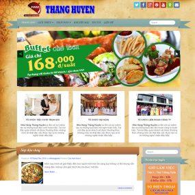 Website Nhà Hàng Cửa Hàng ăn Nhanh WBT75
