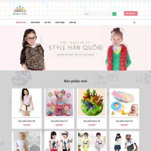 Website Thời Trang Trẻ Em WBT80