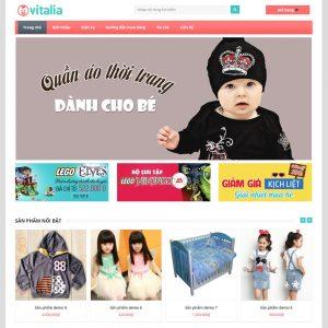 Website Quần áo Thời Trang Dành Cho Bé WBT81
