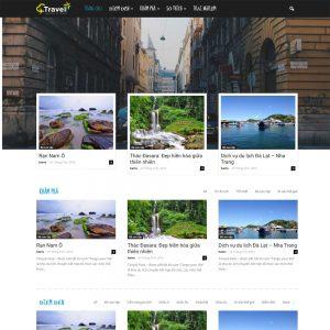 Mẫu Website Du Lịch đẹp Chuyên Nghiệp WBT82