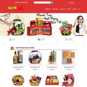 Mẫu Website Bán Quà Tết, Quà Tặng Giá Rẻ WBT83