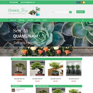 Mẫu Website Bán Cây Cảnh Green Shop WBT84