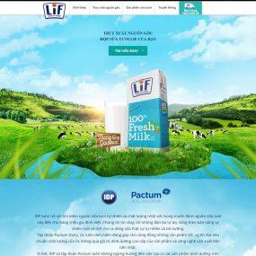 Website Giới Thiệu Công Ty Sữa WBT85