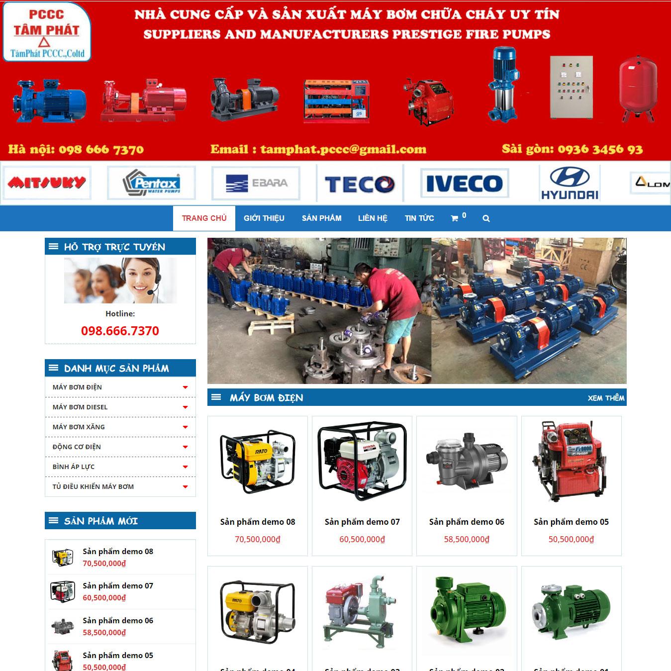 Website Bán Máy Bơm Nước PCCC WBT95