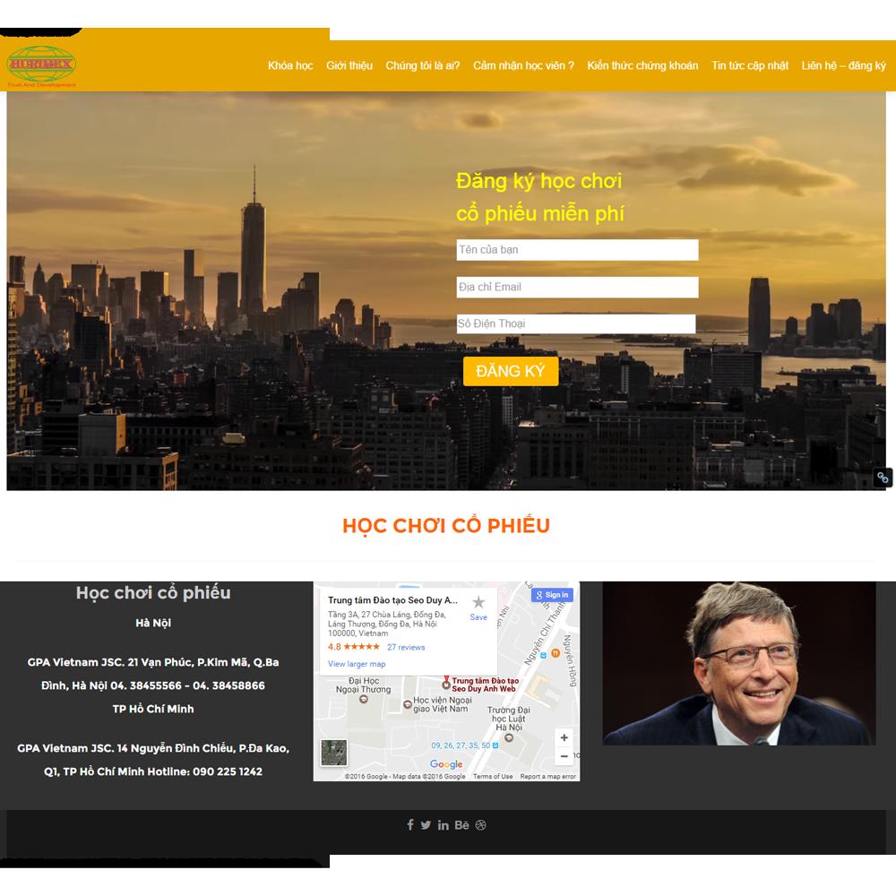 Website Tin Tức – Học Chơi Cổ Phiếu WBT100