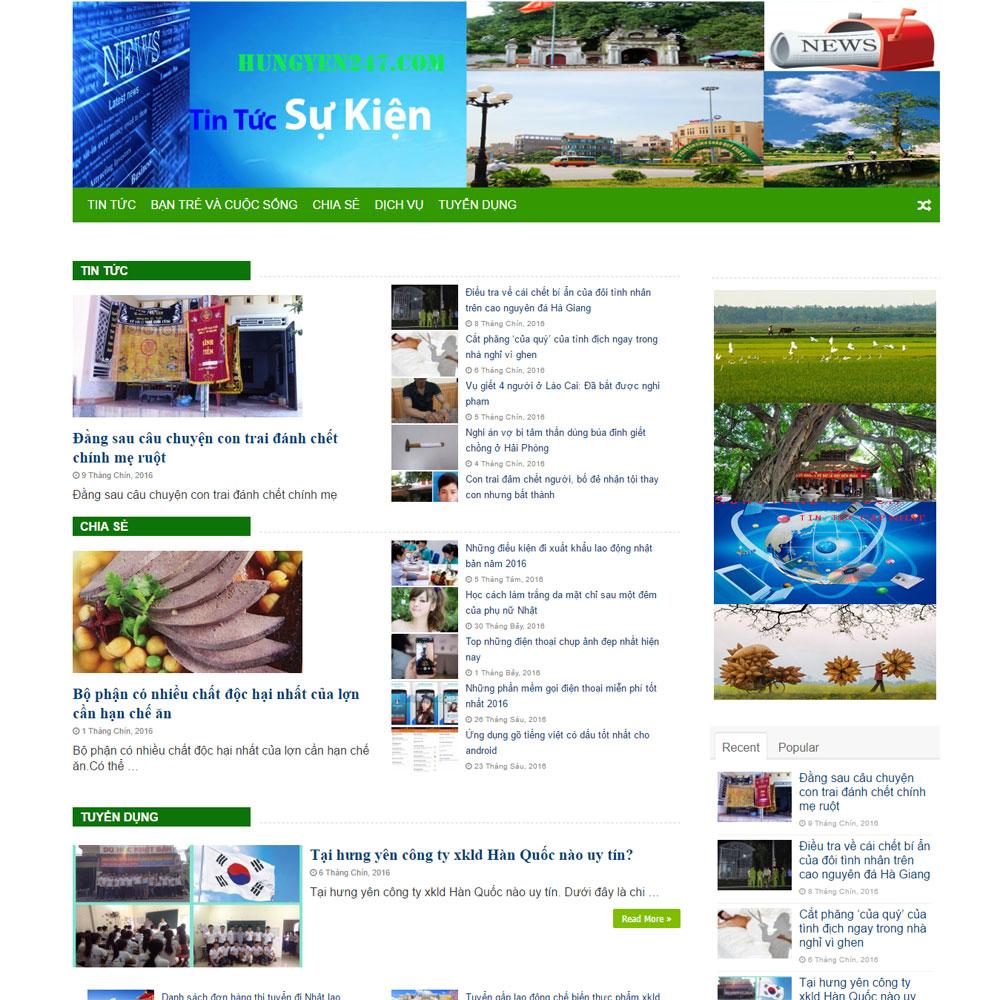 Website Tin Tức Thời Sự Sự Kiện WBT101