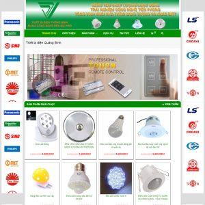 Website Bán Thiết Bị điện Quảng Bình WBT104